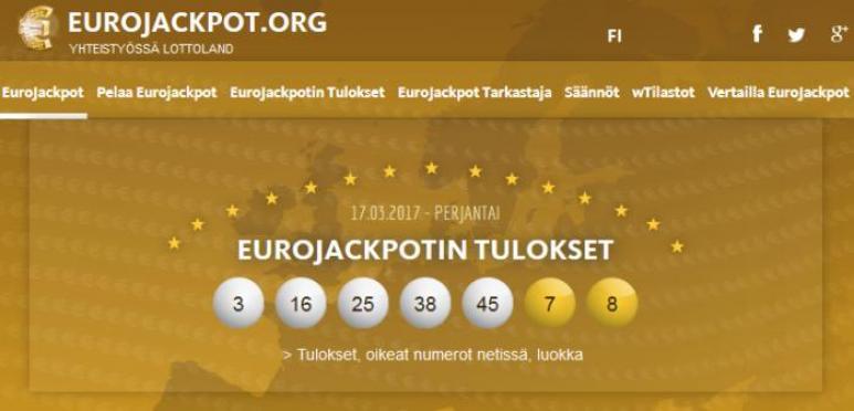 Eurojackpot Todennäköisyys